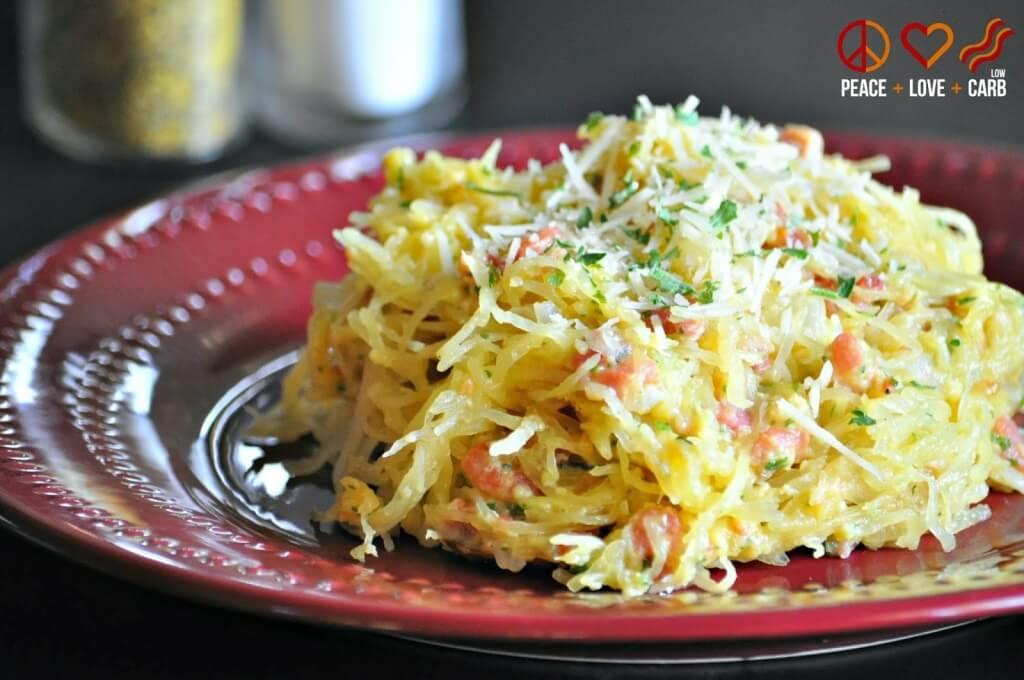 Spaghetti Squash Carbonara 2