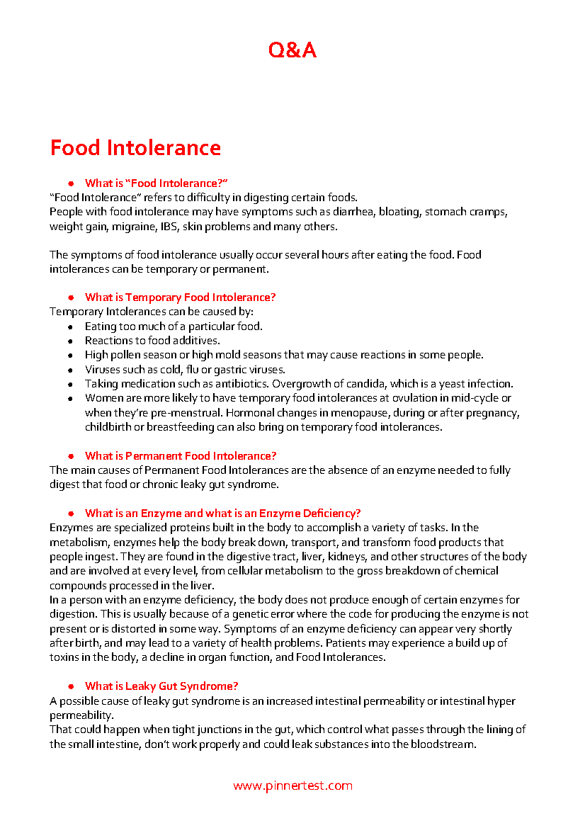 Pinner test review food intolerance test part 2 results page 5 of 6 pinner test review report pg13 fandeluxe Images